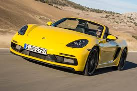 yellow porsche boxster new porsche 718 boxster gts 2017 review auto express