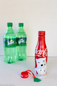 how to transform a coca cola bottle into an ornament