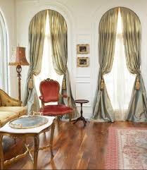curtains for tall windows living room traditional with arched