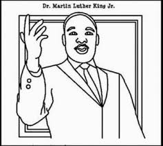 martin luther king jr coloring page coloring pages kids collection