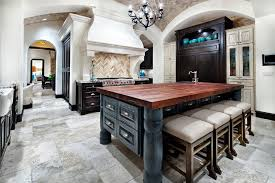 Light Brown Kitchen Cabinets Light Colored Kitchen Cabinets Kitchen Mediterranean With Arch Bar