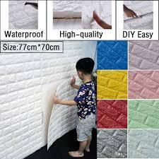 self adhesive wall paper wholesale diy 77cm 70cm 3d brick pattern self adhesive wall