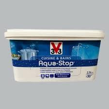 v33 cuisine et bain peinture v33 cuisine et bains aqua stop bleu chinchilla 2 5l satin