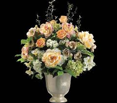 Artificial Floral Arrangements Artificial Flower Arrangement W Rose Snowball Peony Silk Flowers