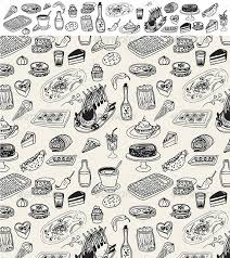 seamless pattern food food doodle seamless pattern by mali658 graphicriver