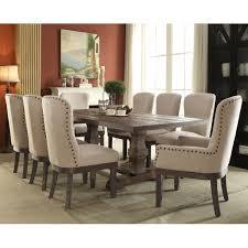 gracie oaks richardson 9 piece dining set u0026 reviews wayfair
