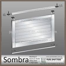 Interior Security Window Shutters Aluminum Sliding Plantation Interior Security Window Shutters