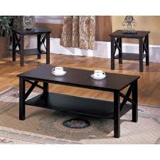 amazon com 3 piece coffee table set kitchen u0026 dining