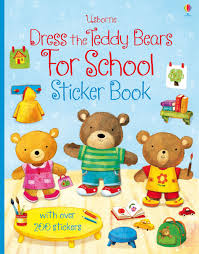 dress the teddy bears for sticker book u201d at usborne