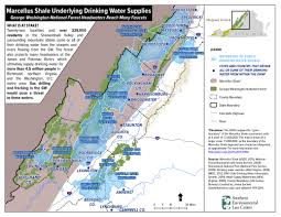 George Washington National Forest Map by Water Quality Friends Of Shenandoah Mountain