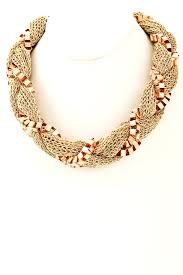 braided chain necklace images Braided mesh fabric chain necklace necklaces jpg