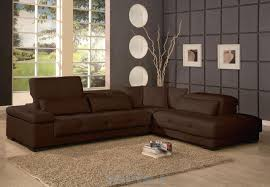 abstract painting on brown living room walls with elegant