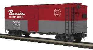 box car train o scale nyc pacemaker boxcar 3 rail 2 rail conversion available