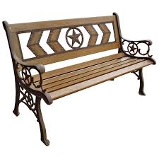 Rustic Patio Furniture Texas by Dc America Texas Star Park Bench Hayneedle
