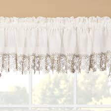 misha semi sheer macrame tier window treatment