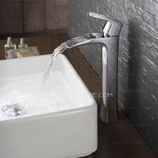 flat design hollowed waterfall cool bathroom sink faucet