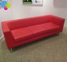 used red leather sofa ors uk new used office furniture