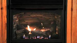 lincoln 36 inch vent free fireplace with yorktown refractory log