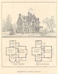 Chalet Plans by 1873 Print House Home Architectural Design Floor Plans Victorian
