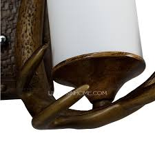 Antler Wall Sconce Antler Wall Sconces 2 Light Resin Painting Finish