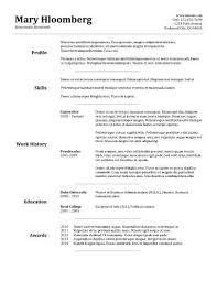 Academic Resume Builder Basic Resume Template Resume Builder