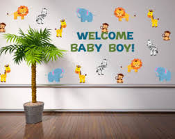 Safari Baby Shower Centerpiece by Safari Wild Animals Wall Decal Jungle Wall Decal Animal Wall