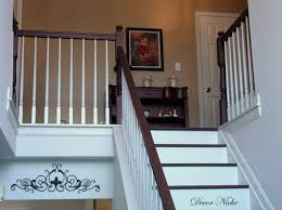 Solid Banister Stair Cozy Picture Of Interior Stair Decoration Using Rustic
