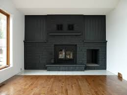 Fireplace Brick Stain by Remodelaholic Dark Gray Painted Fireplace Focal Wall