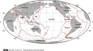 Map Of Tectonic Plates Earthbyte