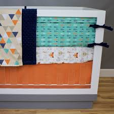 Mini Crib Sheet Tutorial by Fox Say Arrows Crib Bedding Modern Crib Rail Guard And Custom