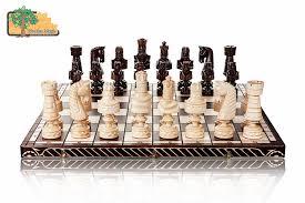 big cezar luxury hand carved wooden chess set 82x82cm amazon co