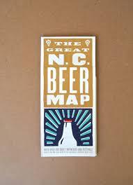 North Carolina Road Map Nc Beer Map U2014 Edia Maps Nc Sc Food U0026 Adventure Maps