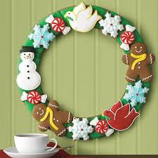 christmas wreath clip art pictures and coloring pages cookies