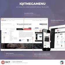 horizontal and vertical mega menu navigation dropdown