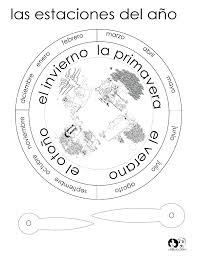 season wheel spanish spanish worksheets for children español