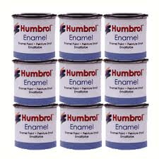 humbrol 9 x enamel model paint 14ml choose your colours model