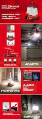 Milwaukee Lights Milwaukee M18 18 Volt Cordless Radius Led Compact Site Light 2145