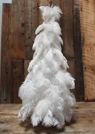 1920 s style white vintage real feather tree 3ft ostrich