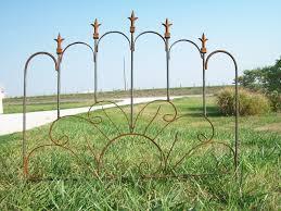 wrought iron sunburst garden edging fence