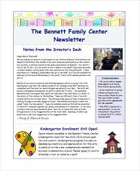 kindergarten newsletter template printable preschool newsletter