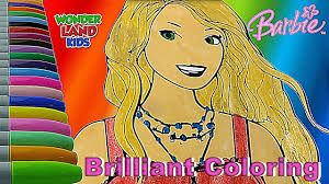 barbie brilliant coloring painting learning coloring