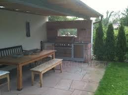aussenk che mauern raucher grill gemauert bild traumhaus design