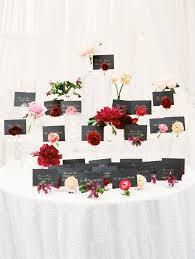 floral escort card display austin wedding at the allen house