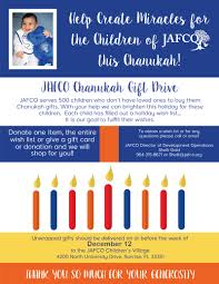 chanukah gifts chanukah gift drive jafco