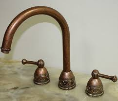 copper kitchen sink faucets villa weathered copper kitchen sink faucet