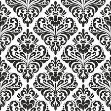 Wallpaper Patterns by Black And White Seamless Damask Wallpaper Pattern Royalty Free