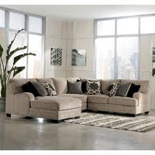 Ashley Furniture Chaise Sofa by Signature Design By Ashley Katisha Platinum 4 Piece Sectional