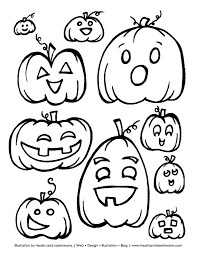100 ideas printable coloring halloween decorations
