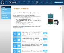 ifttt android connecting ooma with android ooma telo support