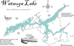 Tennessee River Map Amazon Com Watauga Lake Tennessee Standout Wood Map Wall Hanging
